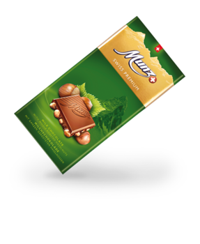 Munz Swiss Premium milk/hazelnut tablet 100g