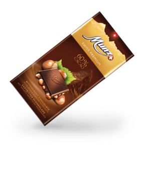 Munz Swiss Premium dark 60%/hazelnut tablet 100g
